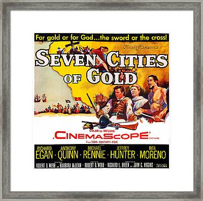 Seven Cities Of Gold, Us Poster, Center Framed Print