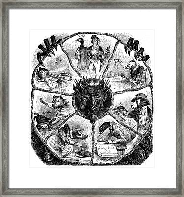 Seven Deadly Sins Framed Print by Collection Abecasis