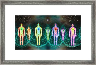 Seven Energetics Framed Print by Luis Diaz