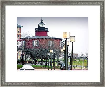 Framed Print featuring the photograph Seven Foot Knoll Lighthouse by Brian Wallace