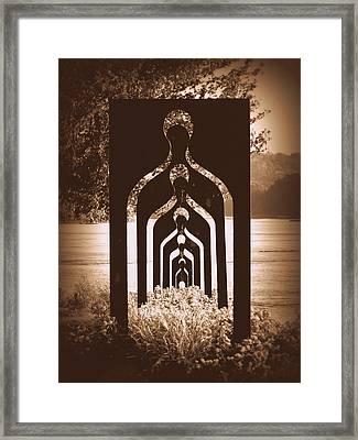 Seven Generations - Sepia Framed Print