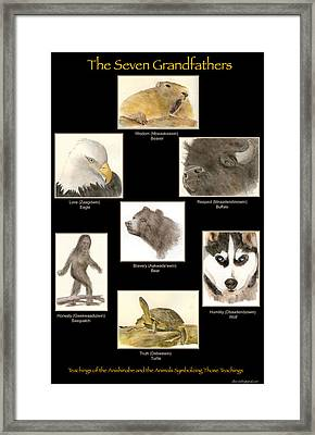 Seven Grandfathers Poster Framed Print