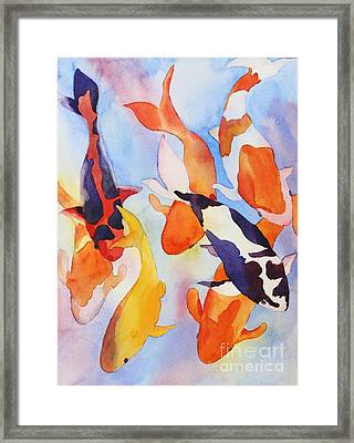 Framed Print featuring the painting Seven Koi by Shirin Shahram Badie
