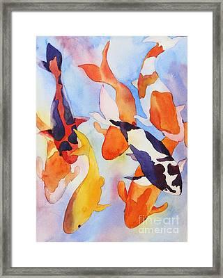 Seven Koi Framed Print