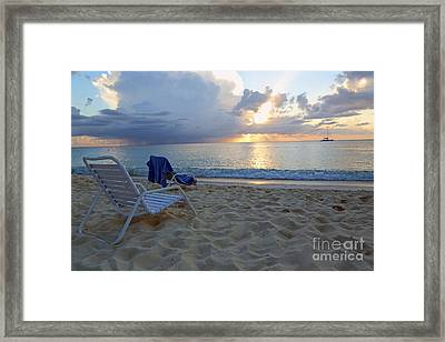 Sunset On Seven Mile Beach Framed Print