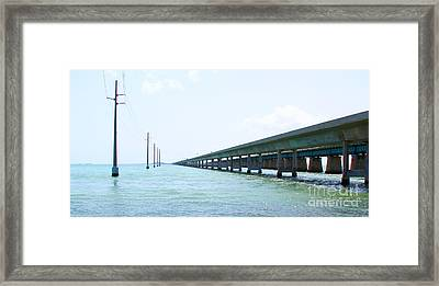 Seven Mile Bridge Framed Print by Carey Chen