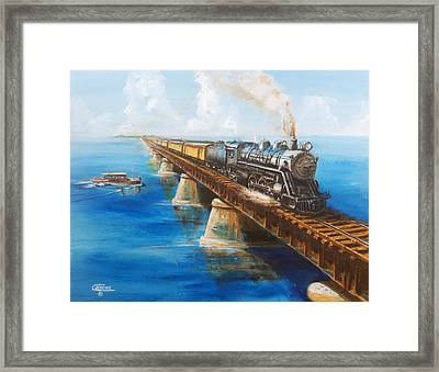 Seven Mile Bridge Framed Print