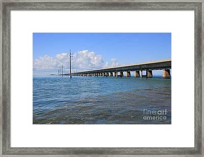 Seven Mile Bridge Marathon Framed Print by Sophie Vigneault