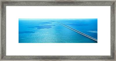 Seven Miles Bridge Florida Keys Fl Usa Framed Print by Panoramic Images