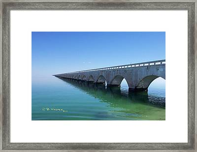 Framed Print featuring the photograph Seven Miles To Go Before I Sleep by R B Harper