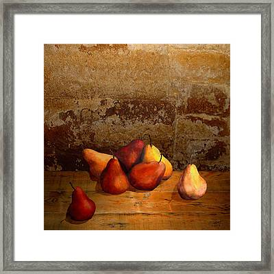 Seven Pears Framed Print by IM Spadecaller