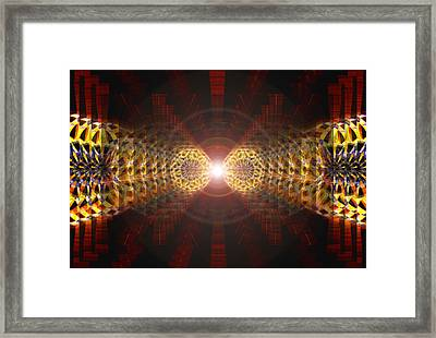 Framed Print featuring the drawing Seven Sacred Steps Of Light by Derek Gedney