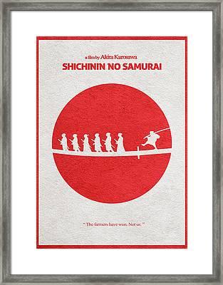 Seven Samurai Framed Print by Ayse Deniz