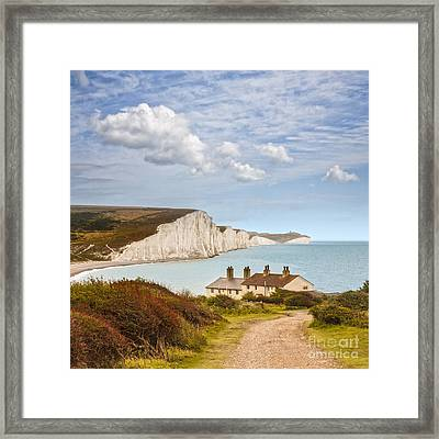 Seven Sisters Cuckmere Haven South Downs Sussex Framed Print by Colin and Linda McKie