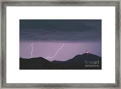 Seven Springs Lightning Strikes Framed Print