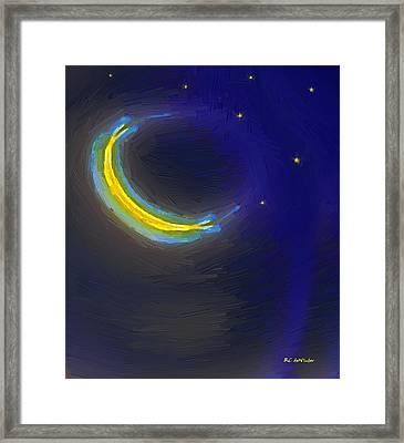 Seven Stars And The Moon Framed Print