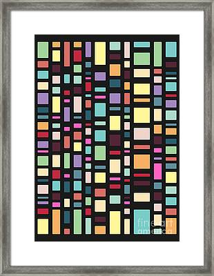 Seventeen Pattern Dark Framed Print