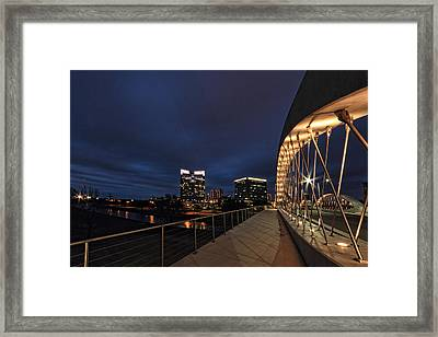 Seventh Avenue Bridge Fort Worth Framed Print