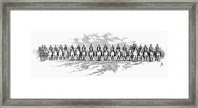 Seventh Cavalry, 1891 Framed Print