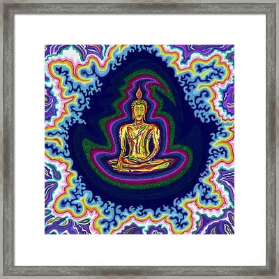 Seventh Heaven Buddha Framed Print