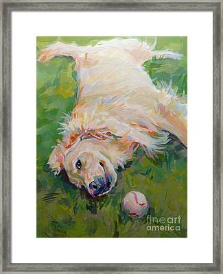Seventh Inning Stretch Framed Print by Kimberly Santini