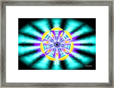 Framed Print featuring the drawing Seventh Ray Of Consciousness by Derek Gedney