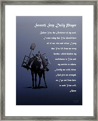 Seventh Step Prayer Framed Print by IM Spadecaller