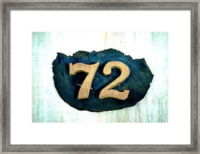 Seventy Two Framed Print by Ali Mohamad