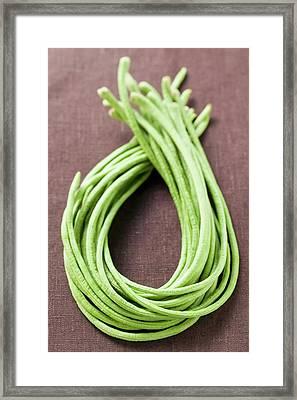 Several Asparagus Beans Framed Print