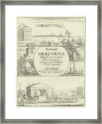 Several Events In Europe In The Year 1650 Framed Print by Pieter Casteleyn