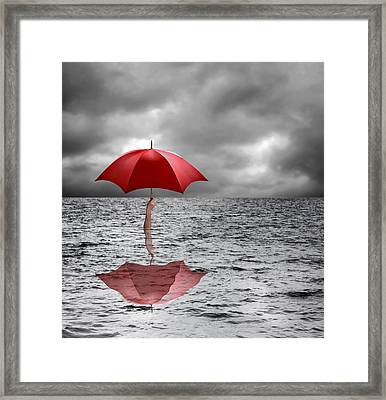 Severe Flooding, Conceptual Image Framed Print by Science Photo Library