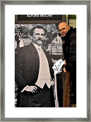 Severe Ordeals. Selfie With Alfons Mucha. Framed Print by Andy Za