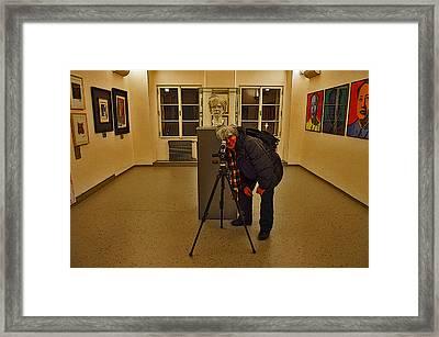 Severe Ordeals. Selfie With Andy Warhol. Framed Print