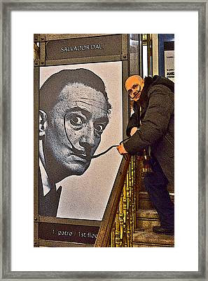 Severe Ordeals. Selfie With Salvador Dali  Framed Print by Andy Za