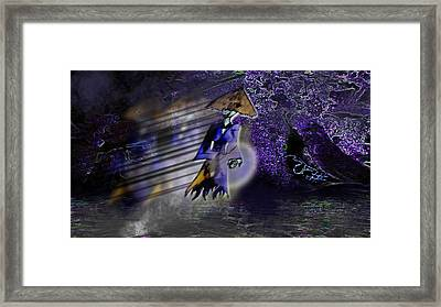 Severely Haunted Woods Framed Print by Marvin Creapeau