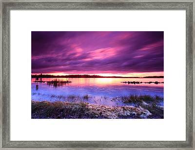 Severn River Stunner Framed Print
