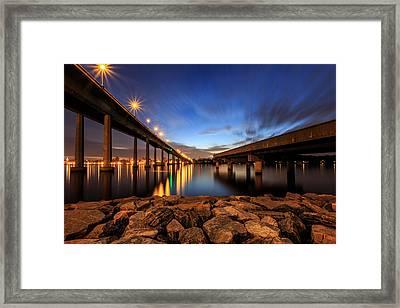 Severn Sky Framed Print by Jennifer Casey