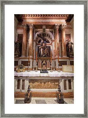 Seville Cathedral Chapel Framed Print by Artur Bogacki