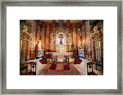 Seville Cathedral Interior In Spain Framed Print
