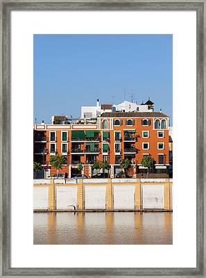 Seville House River View Framed Print by Artur Bogacki