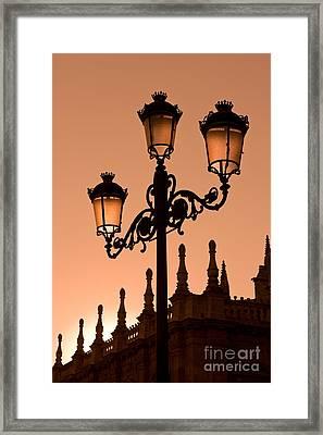Seville Lantern Framed Print by Rod McLean