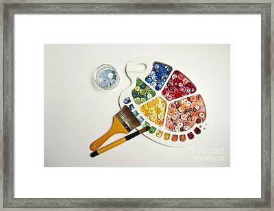 Sew By Numbers Framed Print by Catherine MacBride