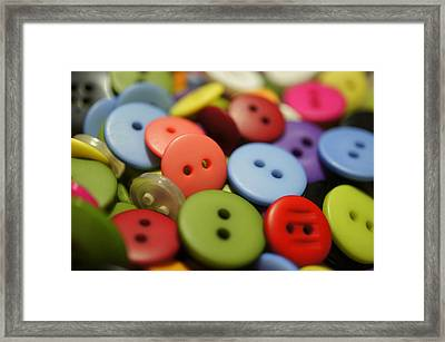 Sew Many Buttons Framed Print
