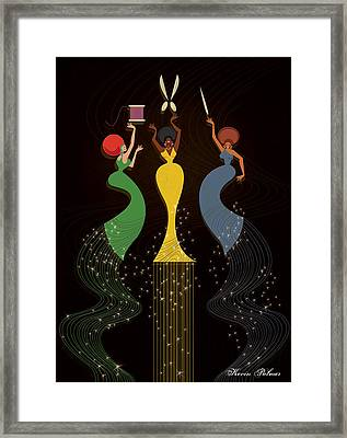 Sew Sisters Framed Print by Kevin Palmer