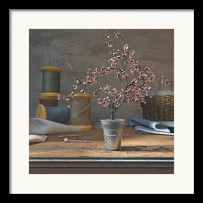 Sewing Supplies Framed Prints