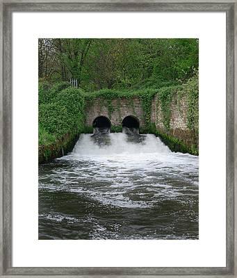 Sewage Effluent Framed Print by Robert Brook