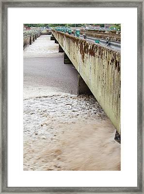 Sewage Plant Framed Print by Ashley Cooper