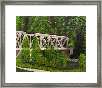 Sewalls Falls Bridge Framed Print