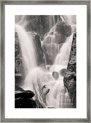 Seward Falls Framed Print by Chris Heitstuman