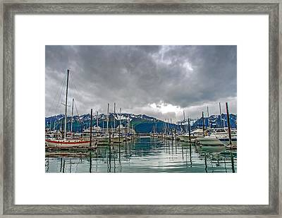 Seward Harbour Alaska Framed Print